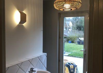 Enduit et peinture d'un palier et d'une salle de bains à Villers-marmery