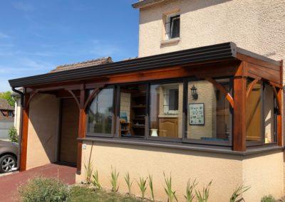 Rénovation d'une véranda en bois à Sillery, près de Reims