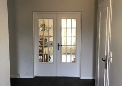 Rénovation d'une entrée : peinture et sol PVC à Taissy, près de Reims