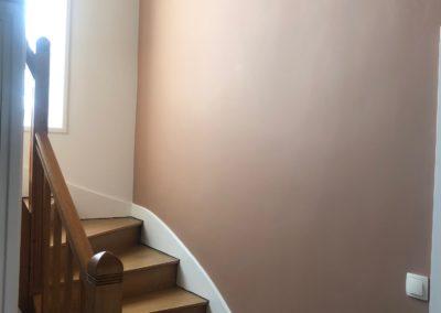 Peinture d'une cage d'escalier chez un particulier à Châlons en Champagne