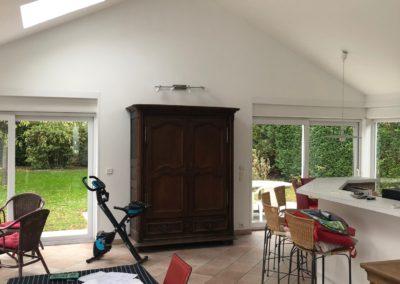 Peinture d'un salon et d'une cuisine à Sillery près de Reims