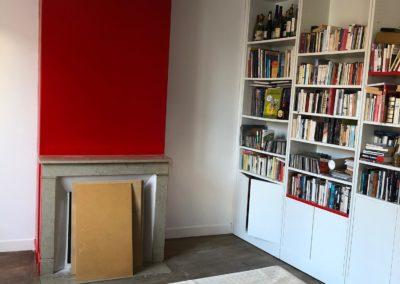 Rafraichissement d'une bibliothèque à Beine Nauroy près de Reims