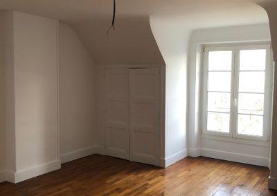 Rénovation d'une chambre parentale, palier/cage d'escalier et d'une entrée dans une maison champenoise
